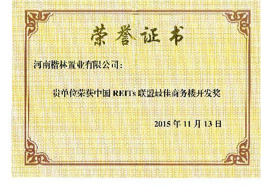中国REITS联盟最佳商务楼开发奖